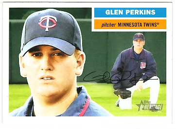 2005 Topps Heritage #452 Glen Perkins SP RC