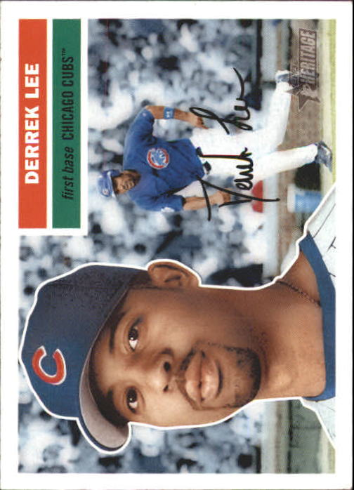 2005 Topps Heritage White Backs #18 Derrek Lee