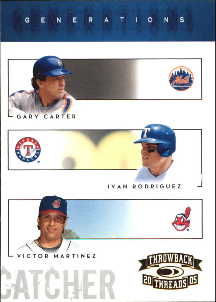 2005 Throwback Threads Generations #9 G.Carter/I.Rod/V.Mart