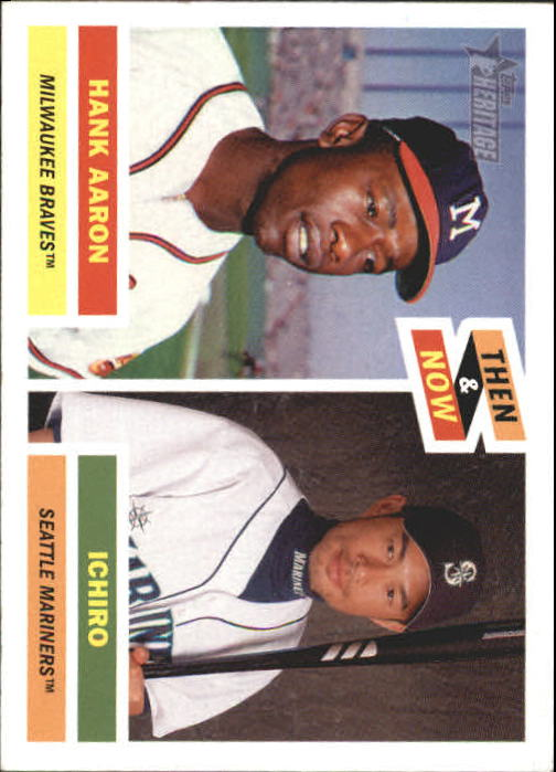 2005 Topps Heritage Then and Now #TN1 H.Aaron/I.Suzuki