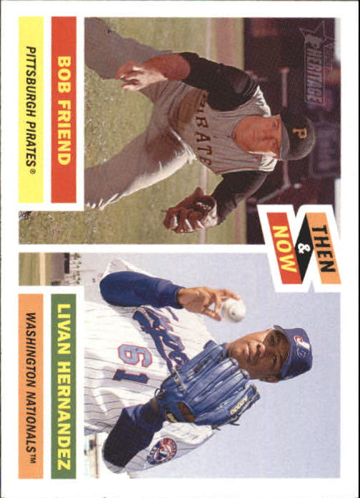 2005 Topps Heritage Then and Now #TN4 B.Friend/L.Hernandez front image