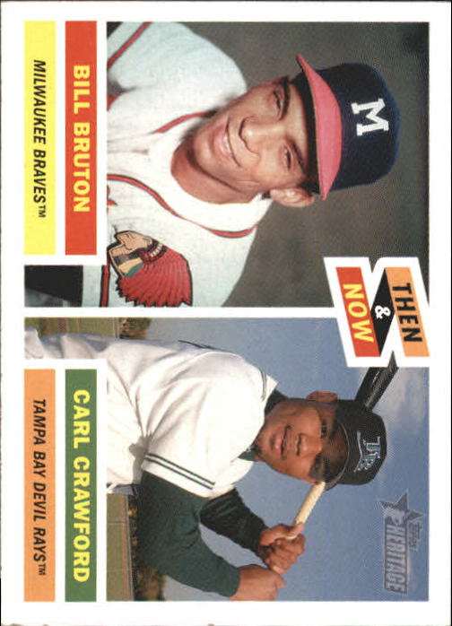 2005 Topps Heritage Then and Now #TN9 B.Bruton/C.Crawford front image