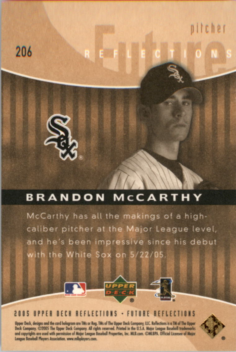 2005 Reflections #206 Brandon McCarthy FR RC back image