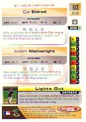 2005 Topps Total #613 C.Eldred/A.Wainwright back image