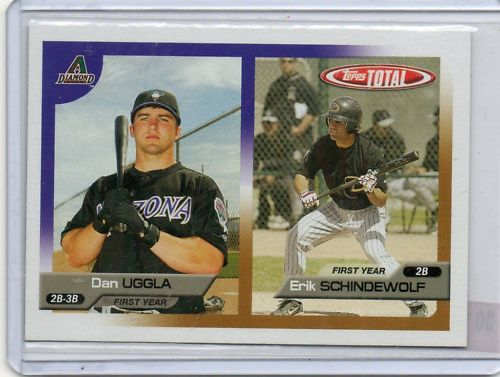 2005 Topps Total #723 D.Uggla RC/E.Sch'wolf RC