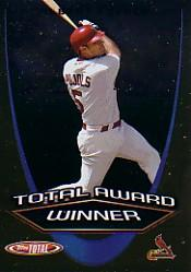 2005 Topps Total Award Winners #AW9 Albert Pujols SS