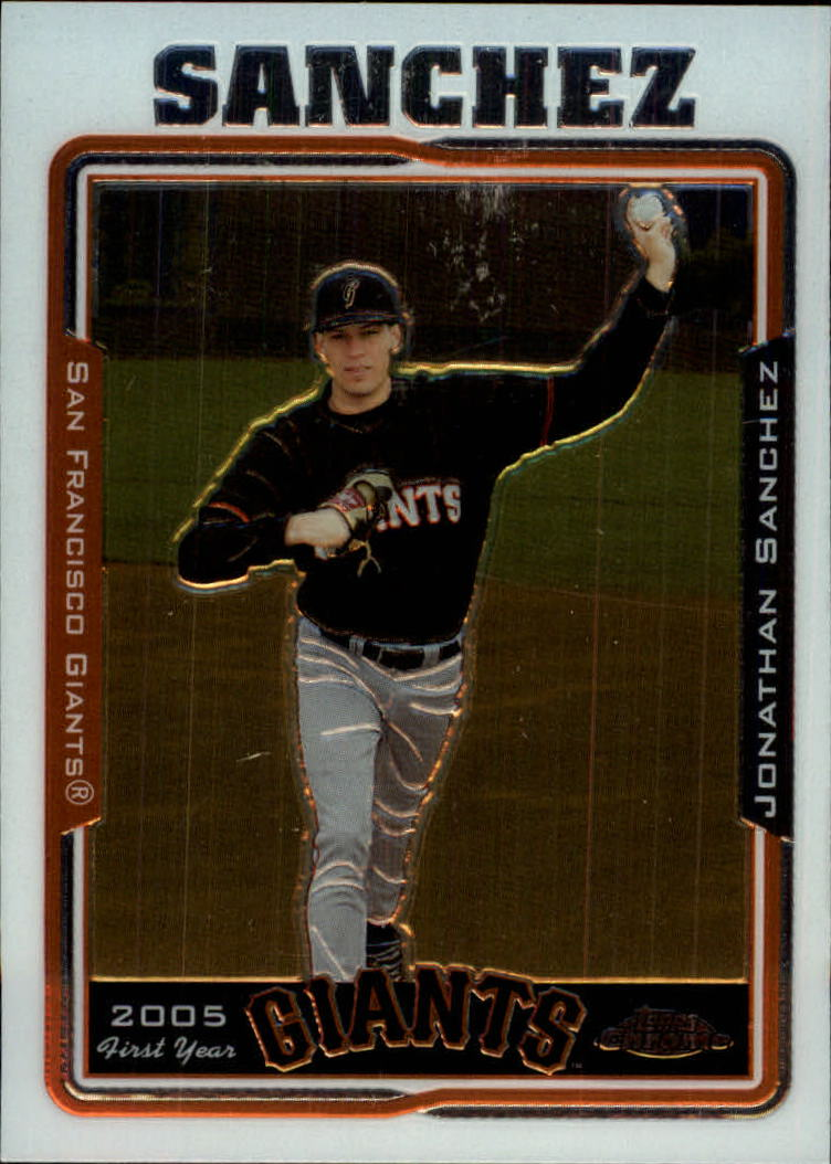 2005 Topps Chrome Update #177 Jonathan Sanchez FY RC