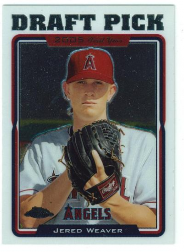 2005 Topps Chrome Update #197 Jered Weaver FY RC