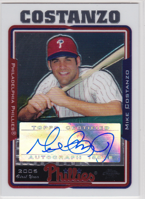 2005 Topps Chrome Update #225 Mike Costanzo FY AU A RC