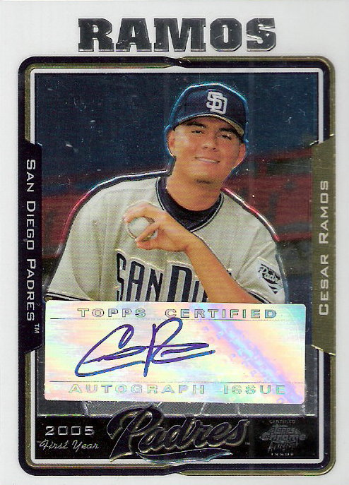 2005 Topps Chrome Update #236 Cesar Ramos FY AU B RC