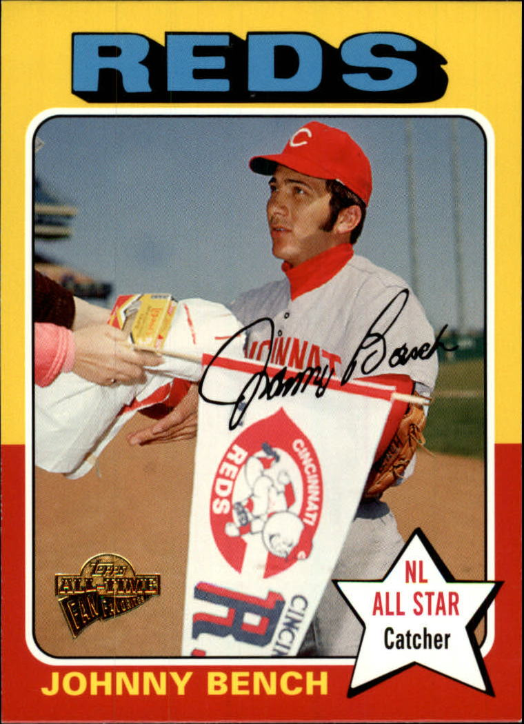 2005 Topps All-Time Fan Favorites #60 Johnny Bench
