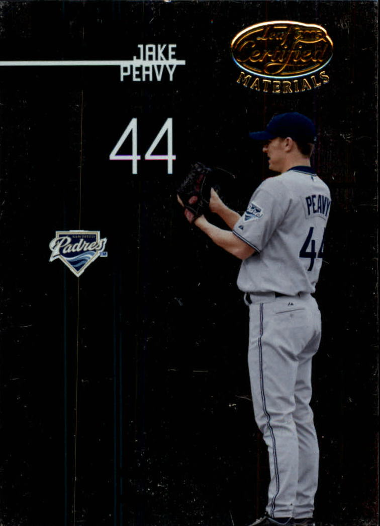 2005 Leaf Certified Materials #36 Jake Peavy