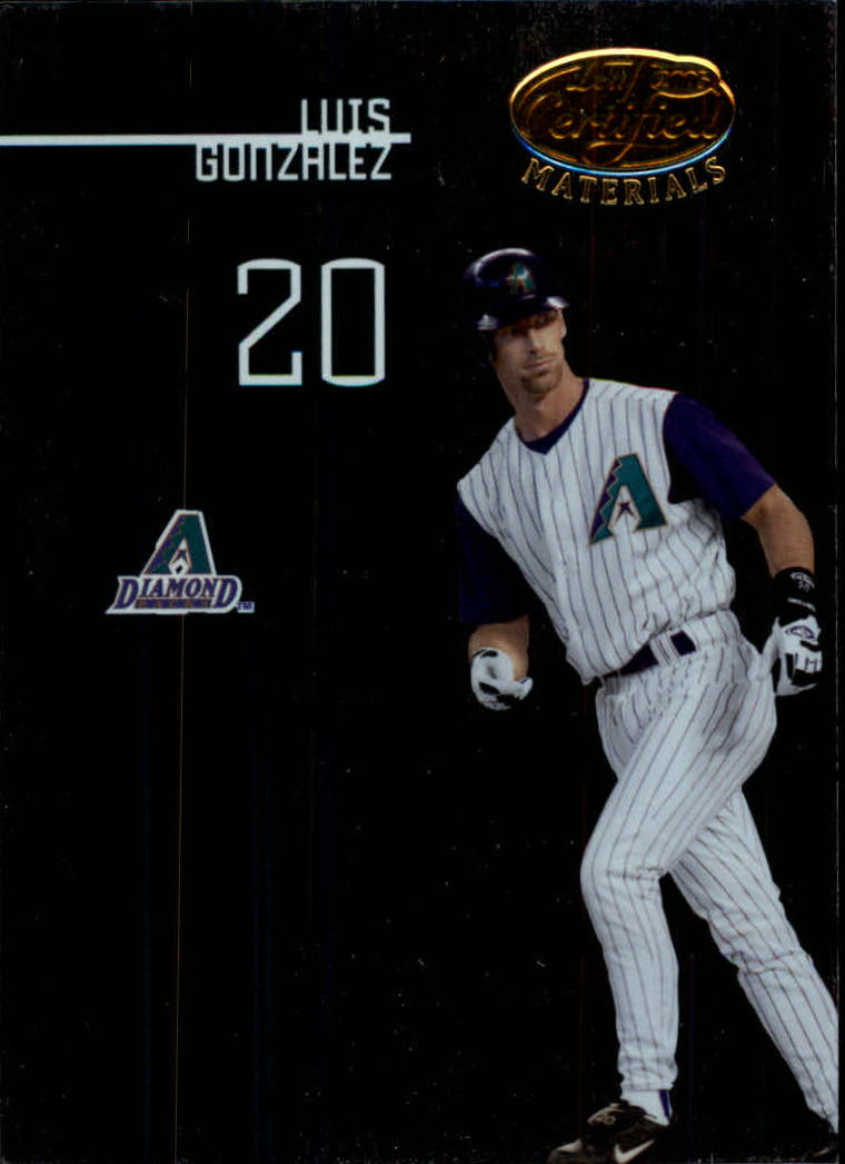 2005 Leaf Certified Materials #96 Luis Gonzalez