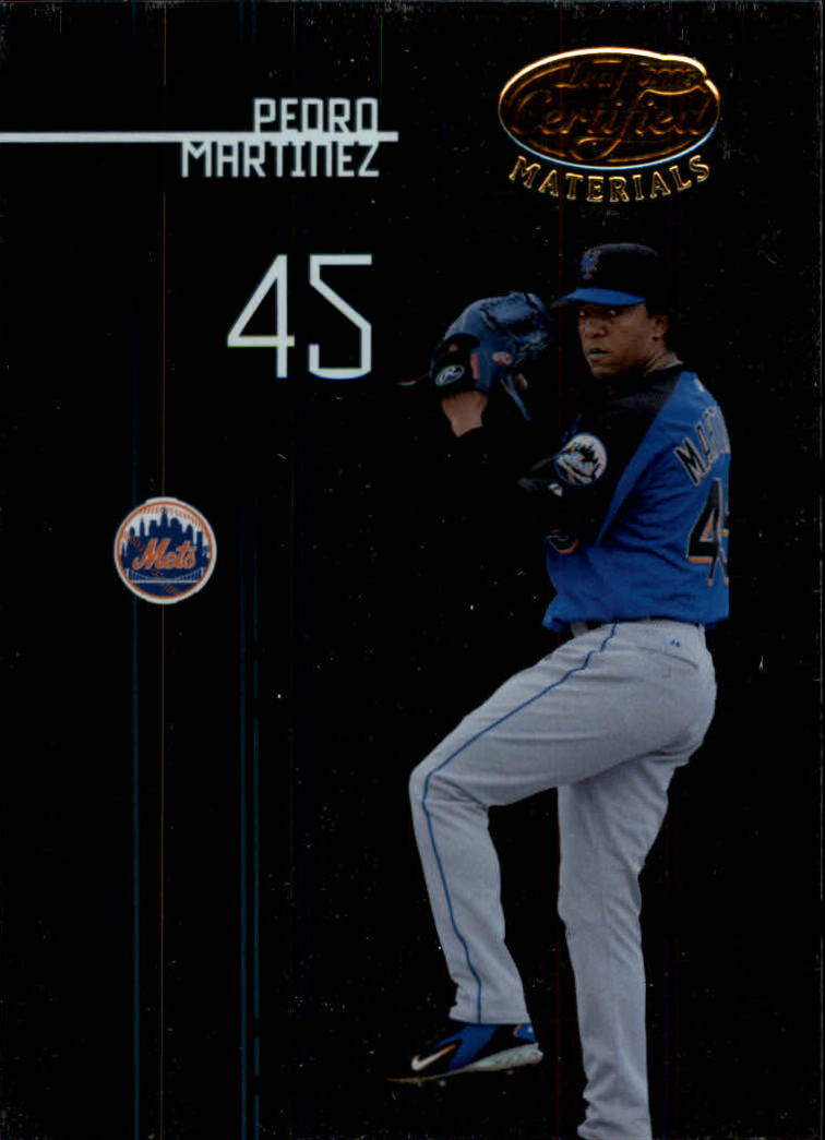 2005 Leaf Certified Materials #123 Pedro Martinez Mets