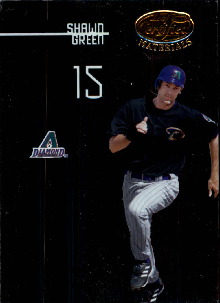 2005 Leaf Certified Materials #136 Shawn Green D'backs