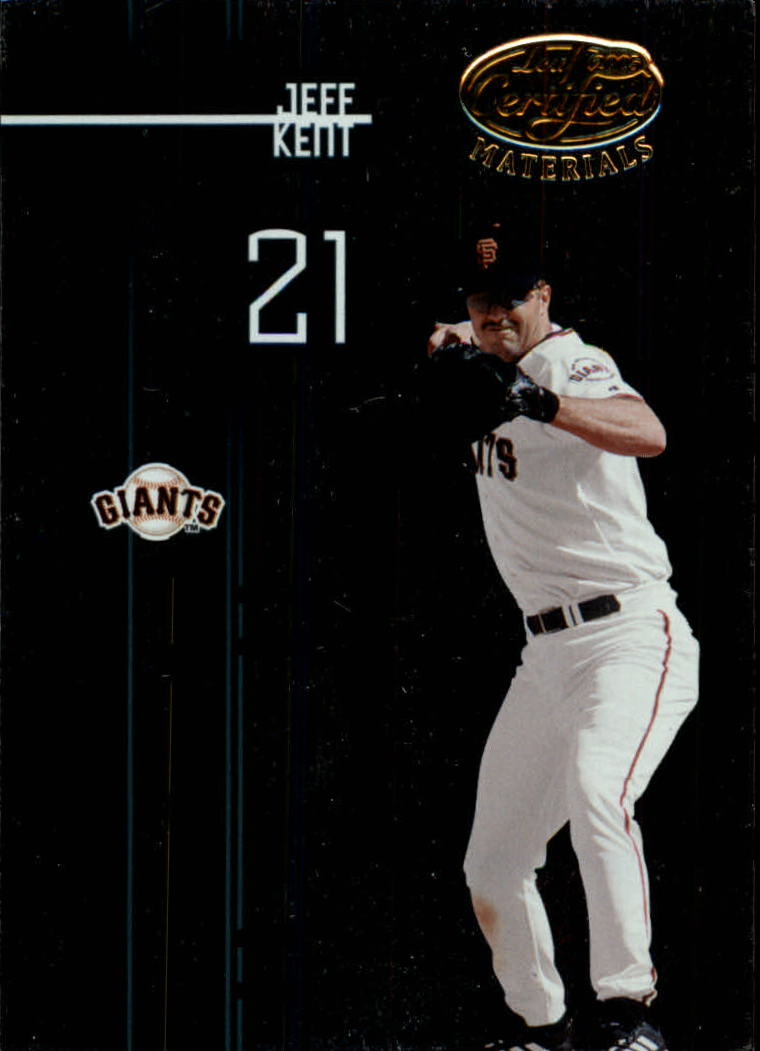 2005 Leaf Certified Materials #180 Jeff Kent Giants