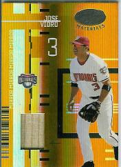 2005 Leaf Certified Materials Mirror Bat Gold #77 Jose Vidro