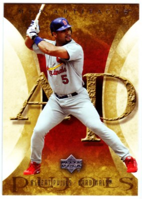 2005 Artifacts #3 Albert Pujols