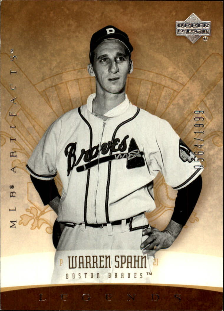 2005 Artifacts #196 Warren Spahn LGD