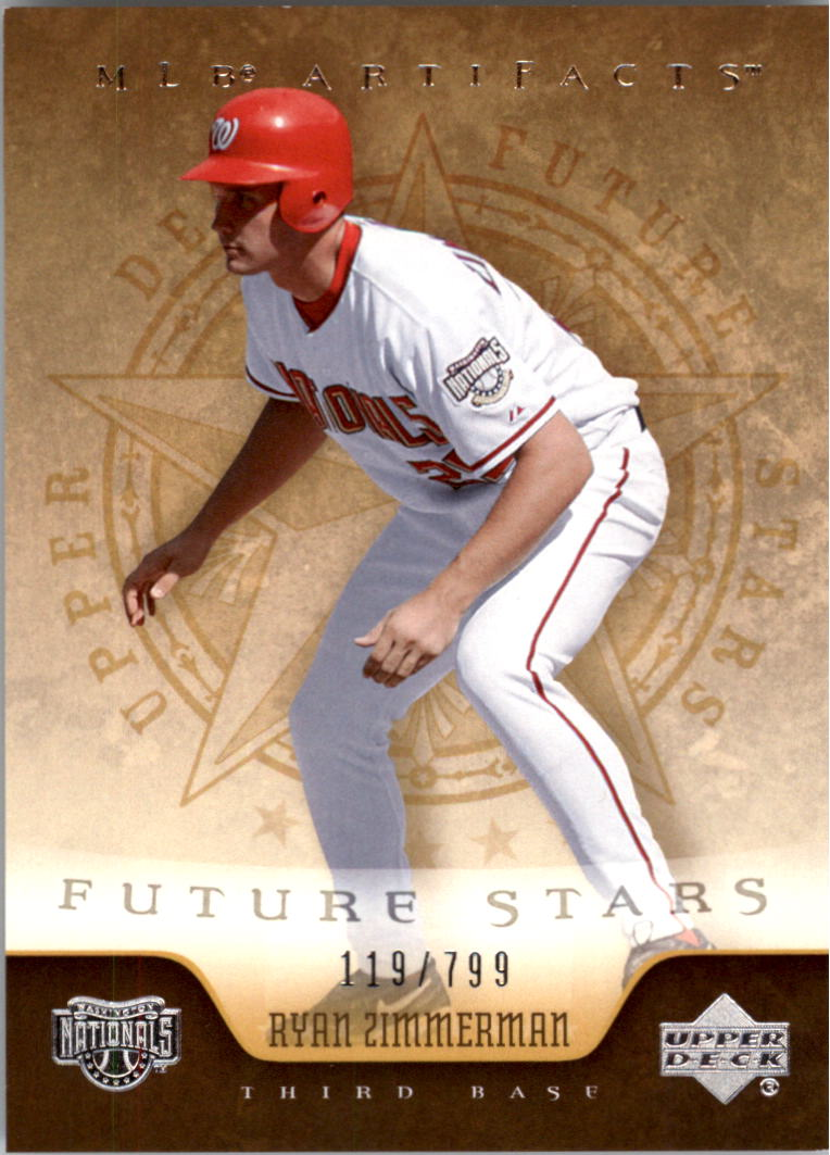 2005 Artifacts #281 Ryan Zimmerman FS RC