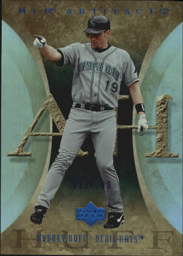 2005 Artifacts Rainbow Blue #9 Aubrey Huff