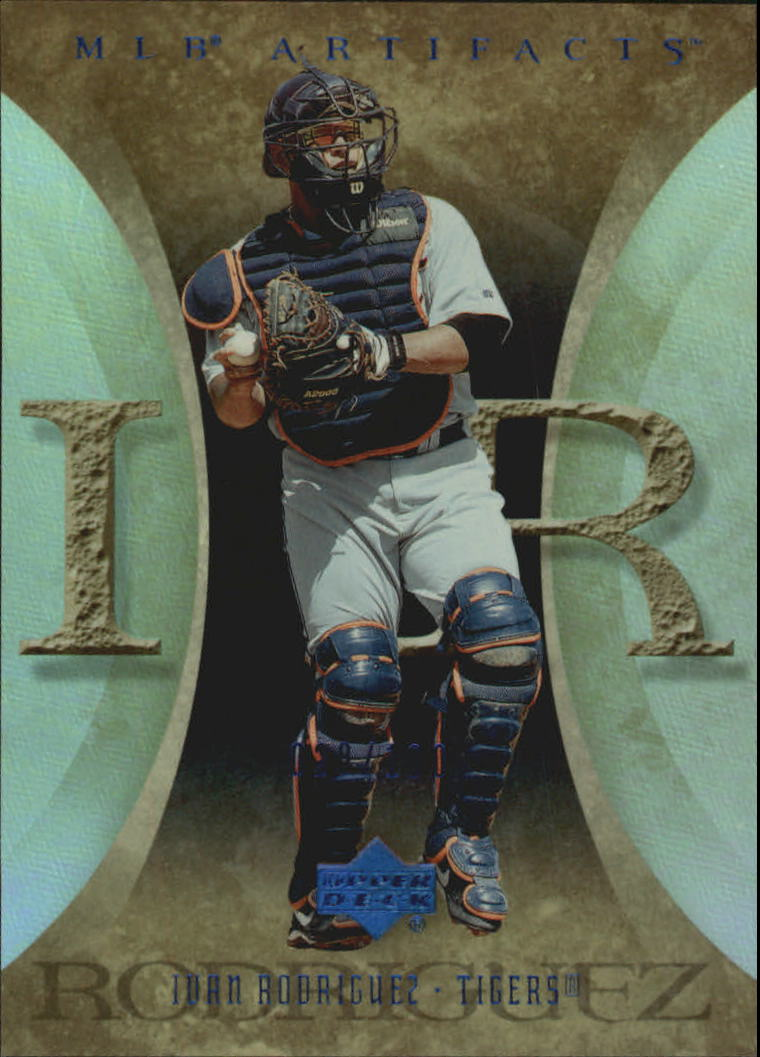 2005 Artifacts Rainbow Blue #39 Ivan Rodriguez