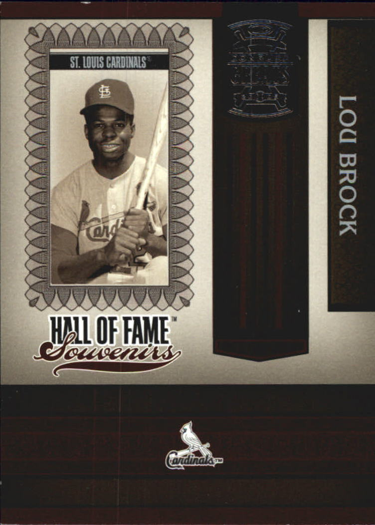 2005 Donruss Greats Hall of Fame Souvenirs #21 Lou Brock