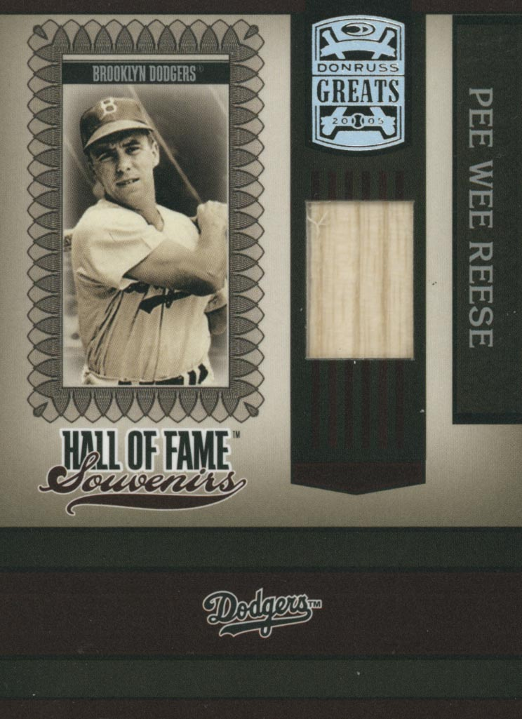 2005 Donruss Greats Hall of Fame Souvenirs Material Bat #8 Pee Wee Reese T4