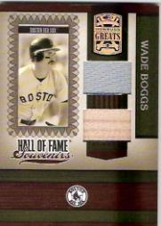 2005 Donruss Greats Hall of Fame Souvenirs Material Combo #27 W.Boggs Sox Bat-Jsy T3
