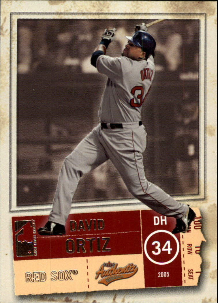 2005 Fleer Authentix #72 David Ortiz