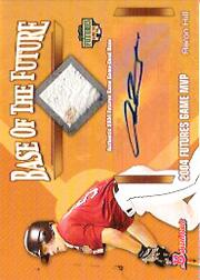 2005 Bowman Base of the Future Autograph Relic #AH Aaron Hill