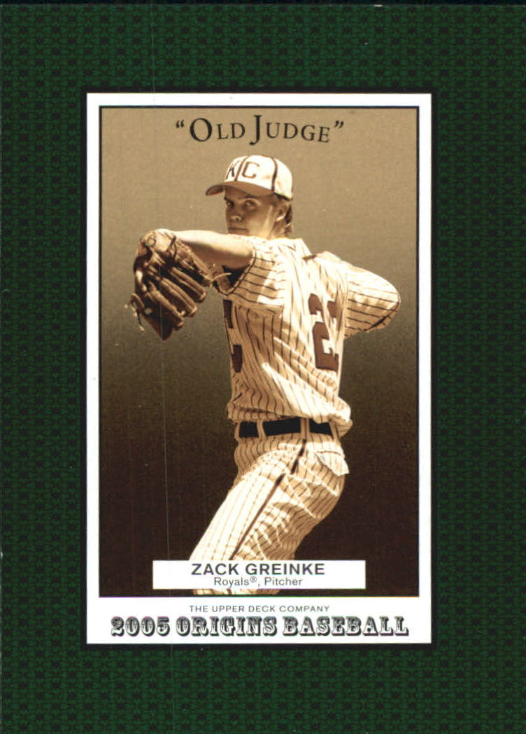 2005 Origins Old Judge #174 Zack Greinke YS front image