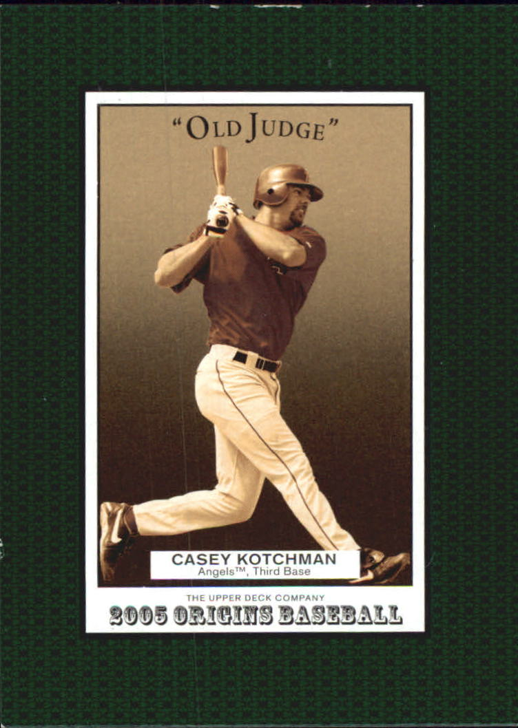 2005 Origins Old Judge #186 Casey Kotchman YS front image