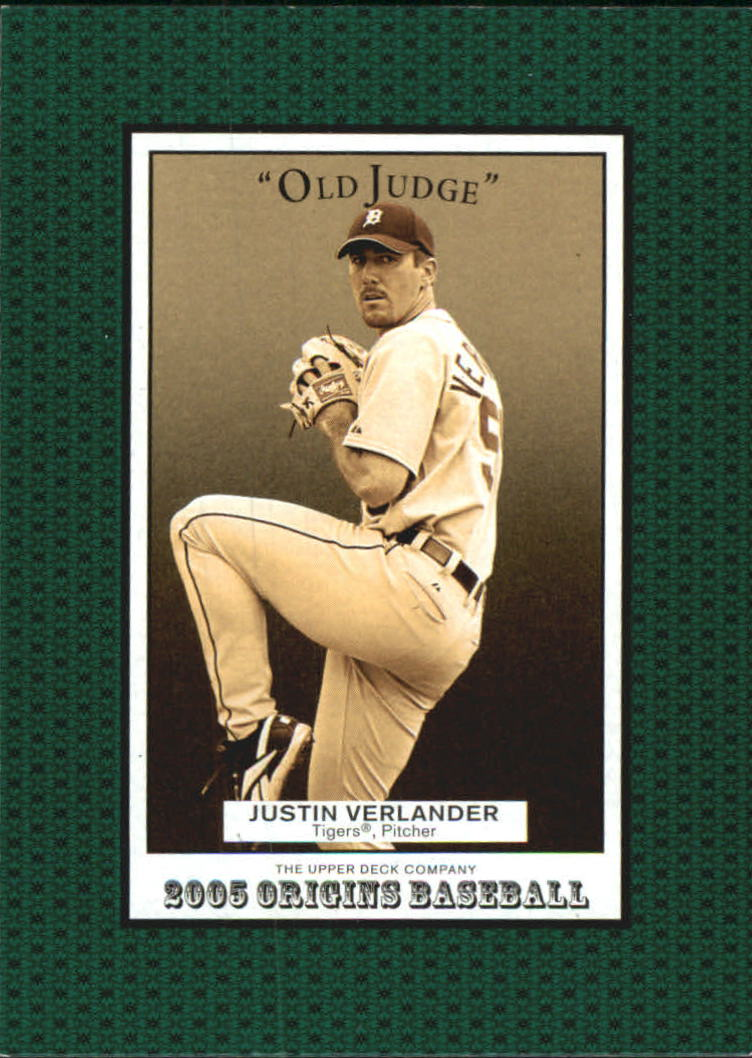 2005 Origins Old Judge #241 Justin Verlander YS RC