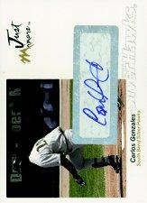 2005 Just Autographs Signatures #24 Carlos Gonzalez/200 *