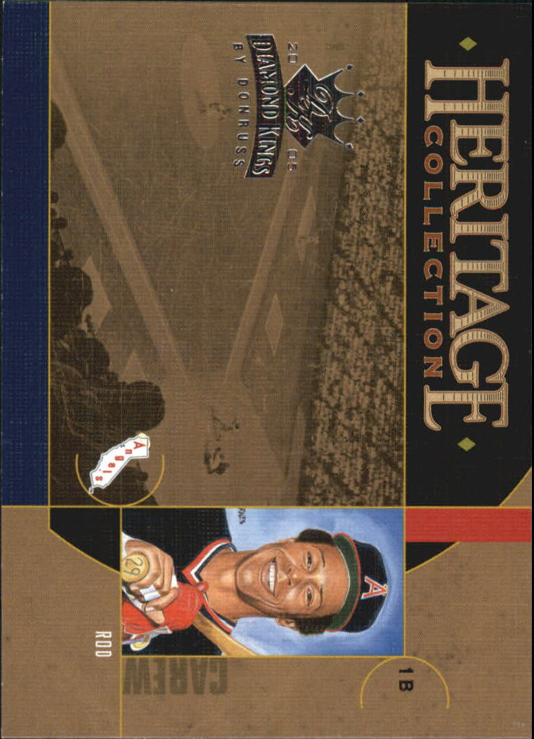 2005 Diamond Kings Heritage Collection #22 Rod Carew