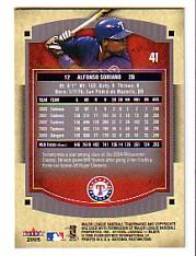 2005 National Pastime #41 Alfonso Soriano back image