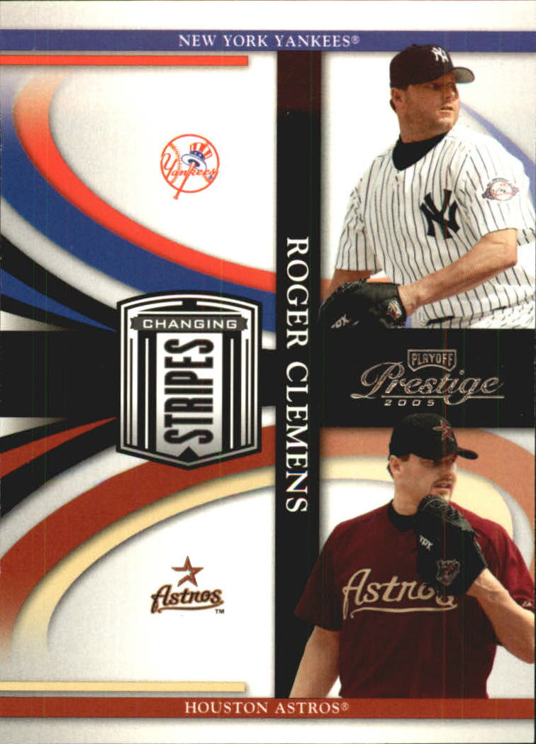 2005 Playoff Prestige Changing Stripes #2 Roger Clemens Yanks-Astros