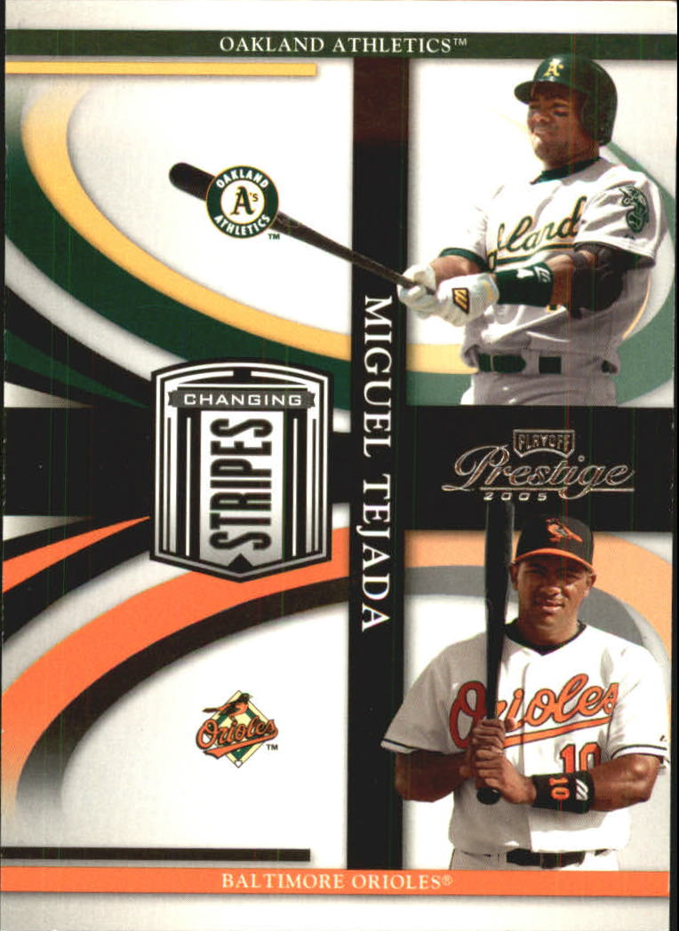 2005 Playoff Prestige Changing Stripes #14 Miguel Tejada A's-O's