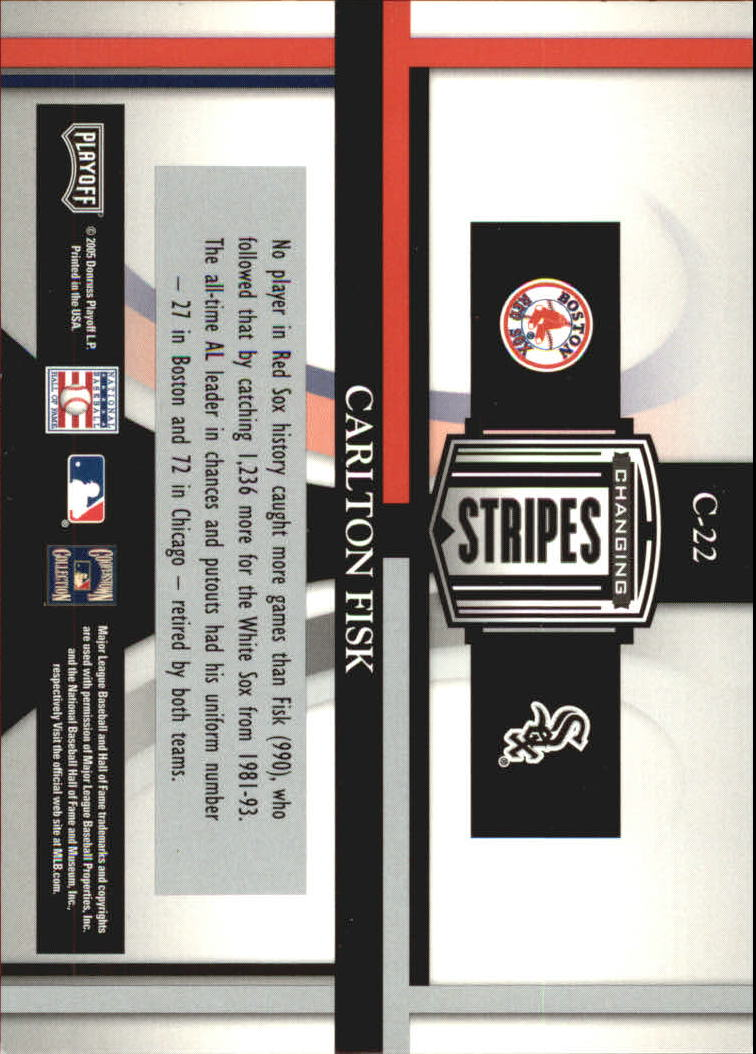 2005 Playoff Prestige Changing Stripes #22 Carlton Fisk R.Sox-W.Sox