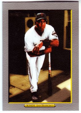 2005 Topps Turkey Red #1B B.Bonds White Uni