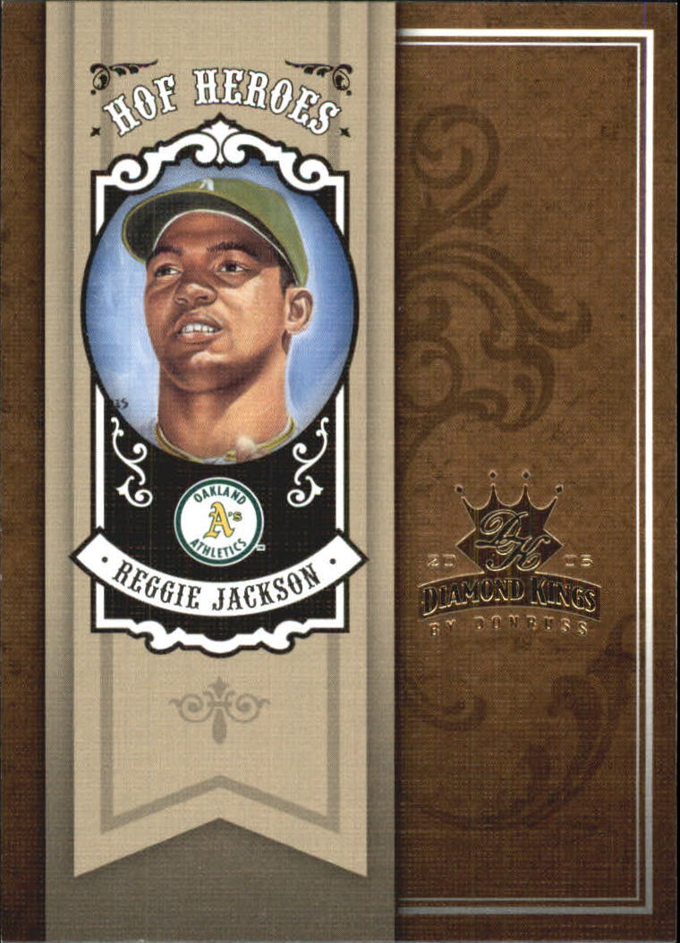 2005 Diamond Kings HOF Heroes #24 Reggie Jackson