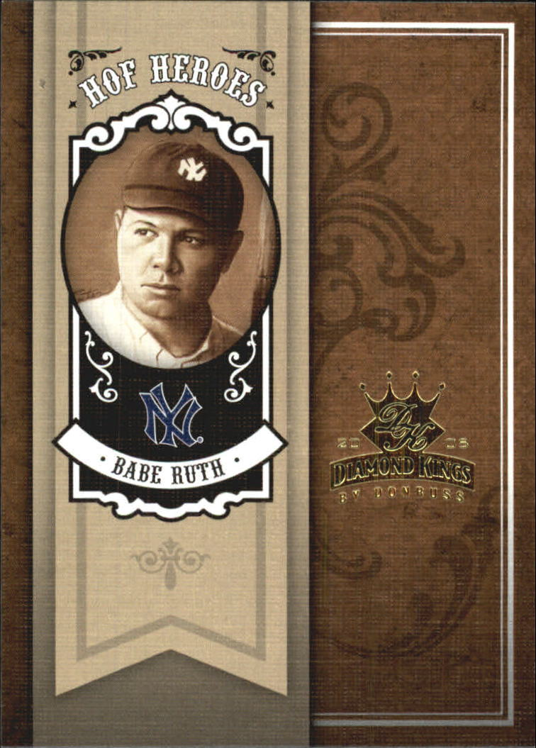 2005 Diamond Kings HOF Heroes #90 Babe Ruth