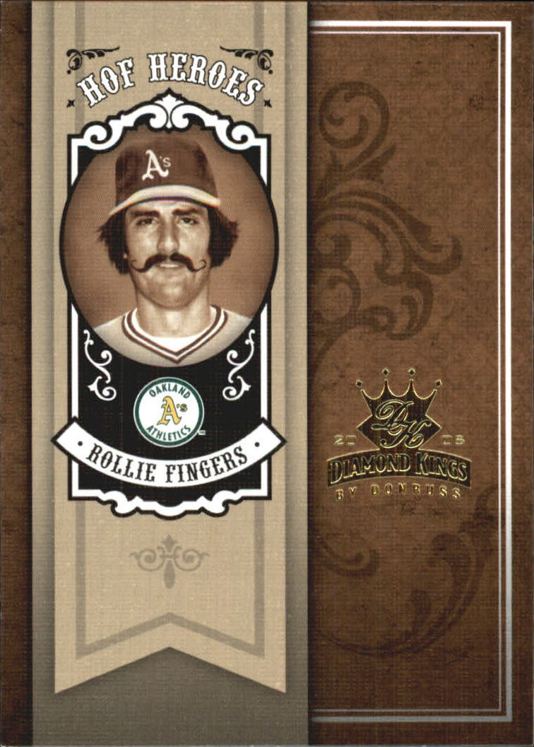 2005 Diamond Kings HOF Heroes #91 Rollie Fingers