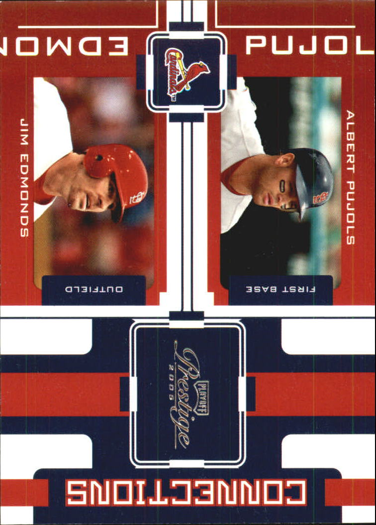 2005 Playoff Prestige Connections #8 A.Pujols/J.Edmonds