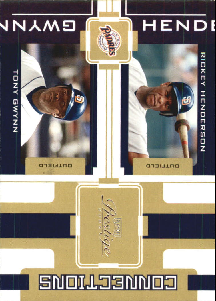 2005 Playoff Prestige Connections #23 R.Henderson/T.Gwynn
