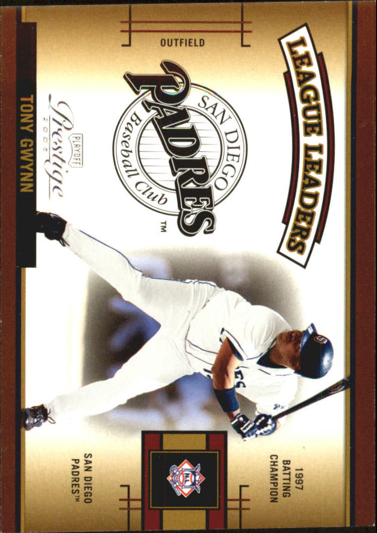 2005 Playoff Prestige League Leaders Single #10 Tony Gwynn front image