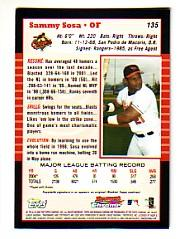 2005 Bowman Chrome #135 Sammy Sosa back image
