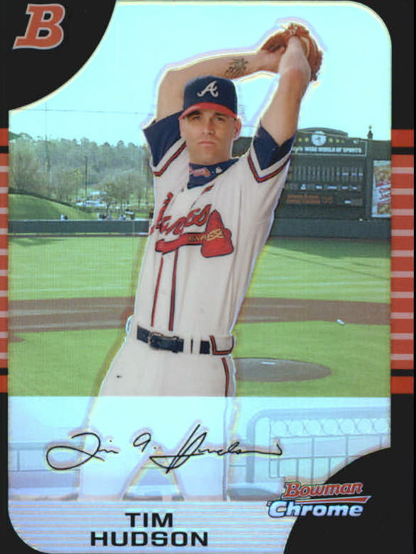 2005 Bowman Chrome Refractors #128 Tim Hudson