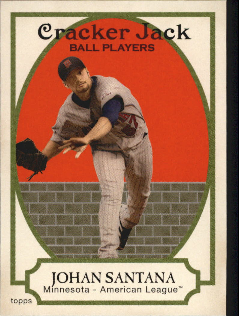 2005 Topps Cracker Jack #85A Johan Santana Throwing
